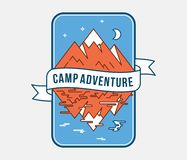 Outdoor camp adventure. Is a vector illustration about fun and exploration royalty free illustration