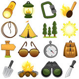 Outdoor & Camp Icons - Illustration Royalty Free Stock Photo