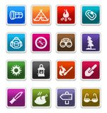 Outdoor & Camp  Icons - sticker series Royalty Free Stock Images