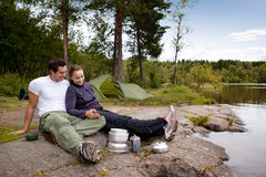 Outdoor Camping Food Stock Images