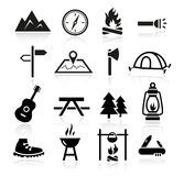 Outdoor Camping Icons. Collection of outdoor and camping icons Stock Photo