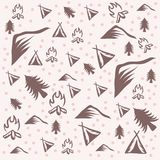 Outdoor camping pattern vector illustration royalty free illustration