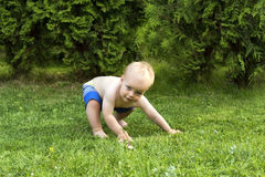 Outdoor Capoeira training. Amazing toddler mooving in Capoeira style Royalty Free Stock Image