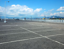 Outdoor car park Royalty Free Stock Images