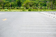 Outdoor car parking lot with white color marking Stock Image