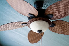 Outdoor ceiling fan of residential home Stock Images