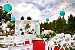 outdoor ceremony. Decoration of celebrations. wedding Stock Images