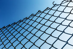 Outdoor Chain link fence Royalty Free Stock Photography