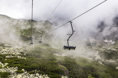 Outdoor chair lift Royalty Free Stock Photos