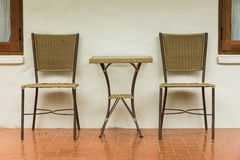 Outdoor chair outside room Royalty Free Stock Photography