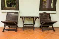 Outdoor chair outside room Royalty Free Stock Photos