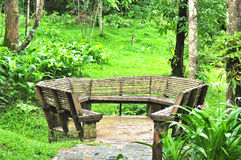 Outdoor chair at Pacharoen waterfall national park, Thailand Royalty Free Stock Photo