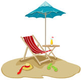 outdoor chair and umbrella Royalty Free Stock Image
