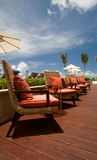 Outdoor chairs in a resort Stock Image