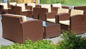 Outdoor chairs and tables Stock Image