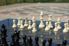 Outdoor  chess Stock Image