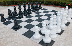 Outdoor Chess Royalty Free Stock Photos