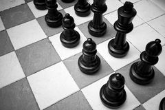 Outdoor Chess Black And White Stock Photography