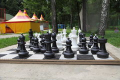 Outdoor chess board Royalty Free Stock Images