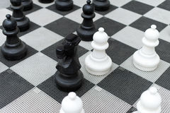 Outdoor chess board. Royalty Free Stock Image