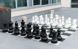 Outdoor chess board. Stock Photos
