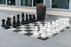 Outdoor chess board. Royalty Free Stock Photos