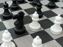 Outdoor chess board. Royalty Free Stock Photo