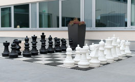 Outdoor chess board. Stock Images