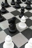 Outdoor chess board. Royalty Free Stock Photography