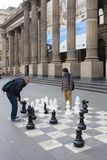 Outdoor chess board Stock Image