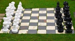 Outdoor Chess Board, New Zealand stock photo