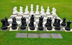 Outdoor Chess Board, New Zealand stock photos