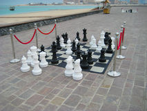 Outdoor Chess Game Stock Photography