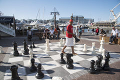 Outdoor Chess game Royalty Free Stock Photos
