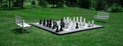 Free Outdoor Chess Match Stock Photography - 25225892