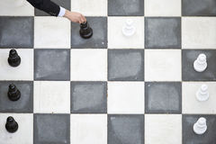 Outdoor chess move Stock Image