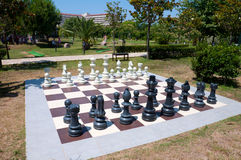 Outdoor chess in the park Stock Photo