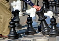 Outdoor chessgame Royalty Free Stock Photos