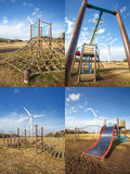 Outdoor children playground Royalty Free Stock Image