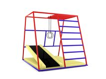 Outdoor children playground isolated. On white background Royalty Free Stock Image