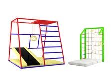 Outdoor children playground isolated Stock Image