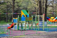 Outdoor children playground Outdoor children playground royalty free stock photos