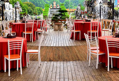 Outdoor chinese restaurant of Royalty Free Stock Photo