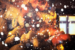 Outdoor chrismas tree Royalty Free Stock Images