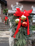 Outdoor Christmas decorations Royalty Free Stock Image