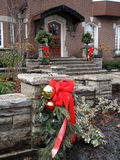 Outdoor Christmas decorations Royalty Free Stock Images