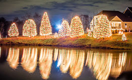 Outdoor christmas decorations at christmas town usa royalty free stock photography