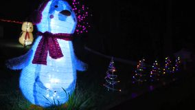 Outdoor Christmas Decorations stock footage
