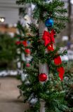 Outdoor Christmas decorations Stock Image