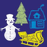Outdoor Christmas items. Vector illustration of Christmas outdoor items Stock Photo
